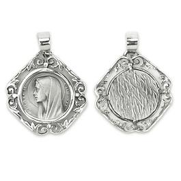 Medalha rosto de Nossa Senhora - Prata 925