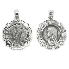 Medalha de Nossa Senhora rendilhada - Prata 925
