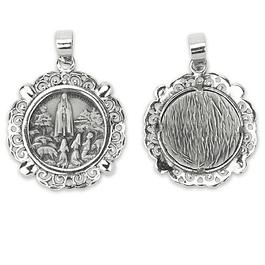 Medalha de Aparição rendilhada - Prata 925