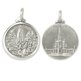 Medalha de Santuário de Fátima - Prata 925