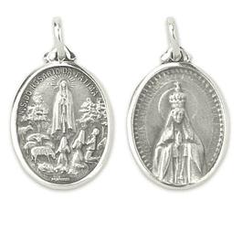 Medalha católica de Fátima - Prata 925