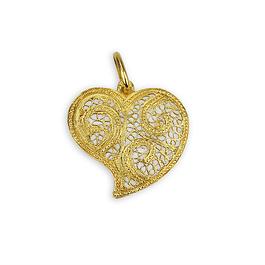 Medalha Coração de Viana - Prata 925