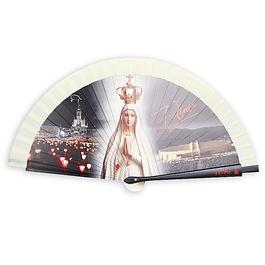 Leque com imagem de Nossa Senhora de Fátima