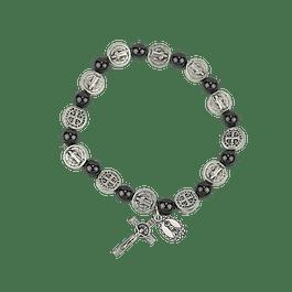 Saint Benedict hematite bracelet