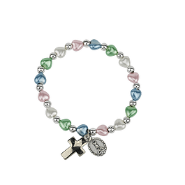 Bracelet with hearts several colors