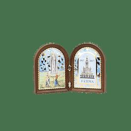 Placa decorativa com Santuário de Fátima