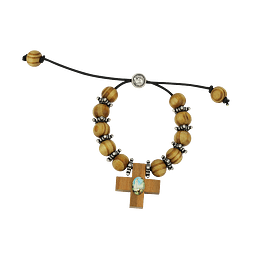 Bracelet Decade Rosary with cross