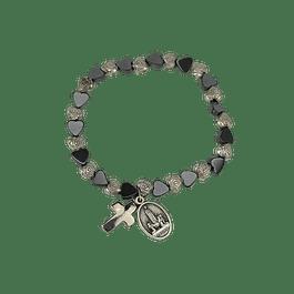 Hematite bracelet with hearts
