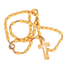 Apparition of Fatima wood rosary