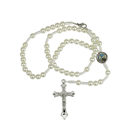 Rosary of white thread