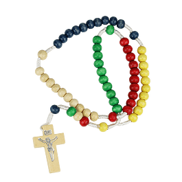 Color wood rosary