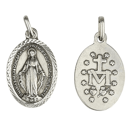 Medalha de Nossa Senhora Milagrosa - Prata 925