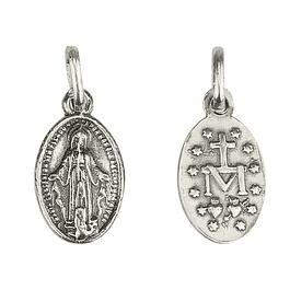Medalha Nossa Senhora Milagrosa com cruz - Prata 925