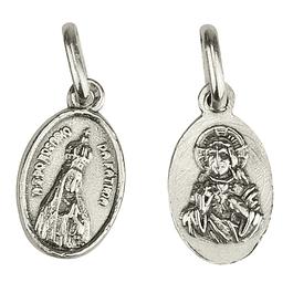 Medalha Nossa Senhora Fátima com coroa - Prata 925