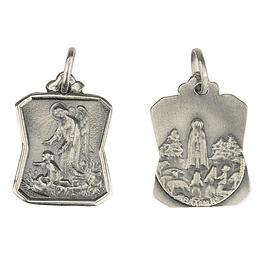 Medalha de Anjo da Garda com menino - Prata 925