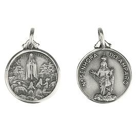 Medalha de Nossa Senhora do Amparo - Prata 925