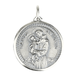 Saint Anthony's Medal with Boy - 925 Silver