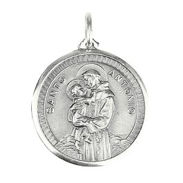 Medalha de Santo António com menino - Prata 925