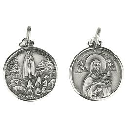 Medalha de Santa Terezinha - Prata 925