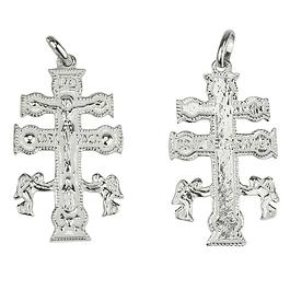 Medalha cruz de Caravaca - Prata 925