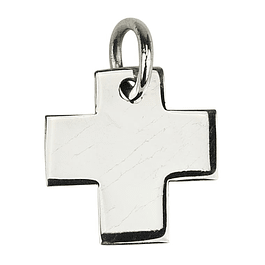 Square cross medal - 925 Silver