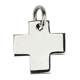Medalha cruz quadrada - Prata 925