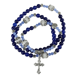 Terço católico Lápis Lazuli