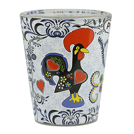 Shot glass with Barcelos rooster
