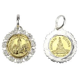 Medalha Fátima Altar do Mundo - Prata 925