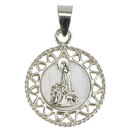 Medalha Madre Pérola - Prata 925