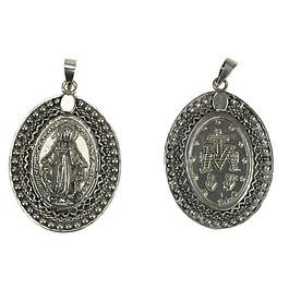 Medalha de Senhora dos Milagres - Prata 925