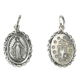 Medalha de Senhora Milagrosa - Prata 925
