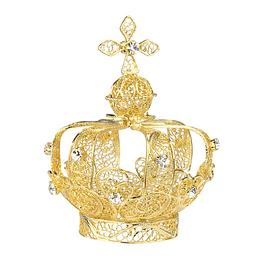 Coroa em filigrana dourada