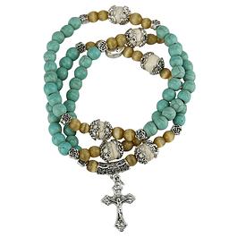 Rosary Howlita Turquoise