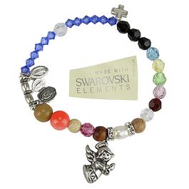 Swarovski bracelet various medals