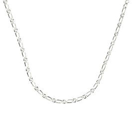 Round and rectangular chain cufflink  - 925 Silver