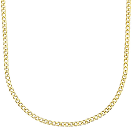 Fio prata dourada simples - Prata 925