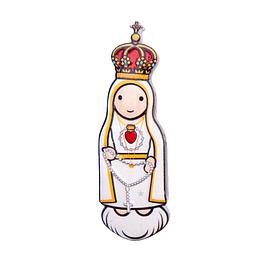 Íman 3D de Coração Sagrado de Fátima