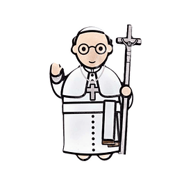3D Magnet Pope Francis