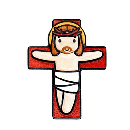 Íman 3D Cristo na Cruz