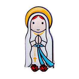 3D Magnet of Our Lady of Lourdes
