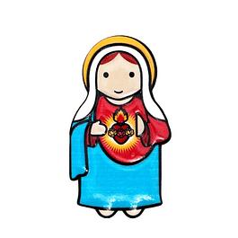 Íman 3D Sagrado Coração de Maria