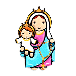 3D Magnet of Our Lady of the Rosary