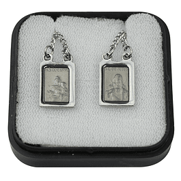 Rectangular stainless steel scapular