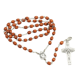 Wooden rosary of Pope Francis