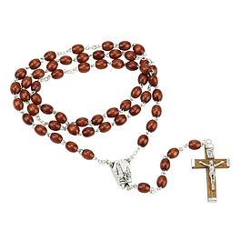Rosary of Fatima in wood