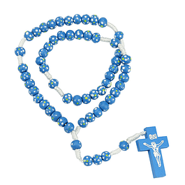 Blue rosary on rope