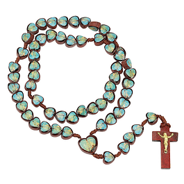 Wood Rosary with Apparition of Fatima