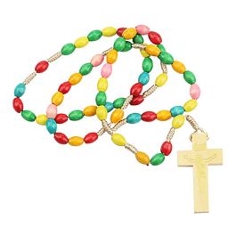 Wood coloured rosary