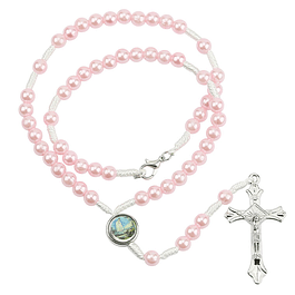 Pink pearls rosary